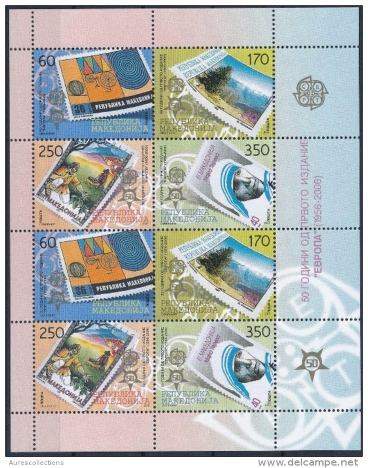 MACEDONIA MACEDOINE EUROPA CEPT ANNIVERSARY ANNIVERSAIRE ANNIV ANNIV. 2005 2006 FULL SHEET MINI SHEET MNH - 2005