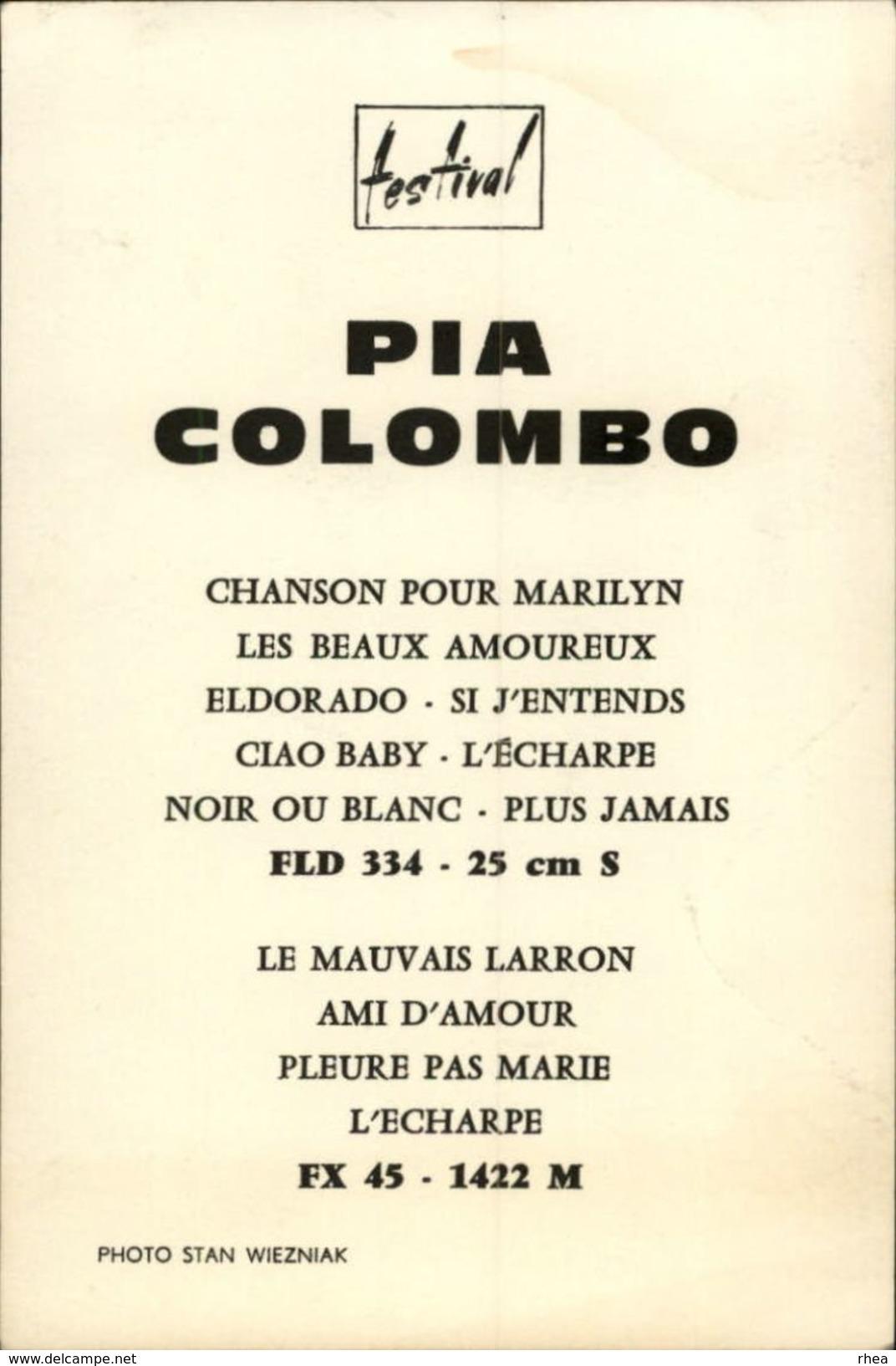 CELEBRITES - PIA COLOMBO - Vieux Papiers