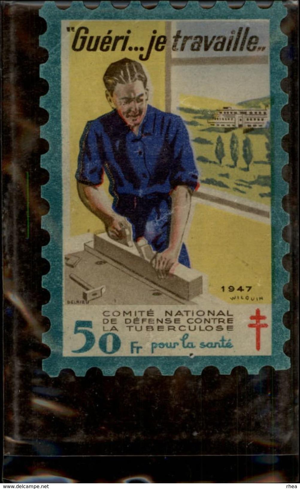 SANTE - Timbre Antiberculeux 1947 - Tuberculose - Erinnophilie
