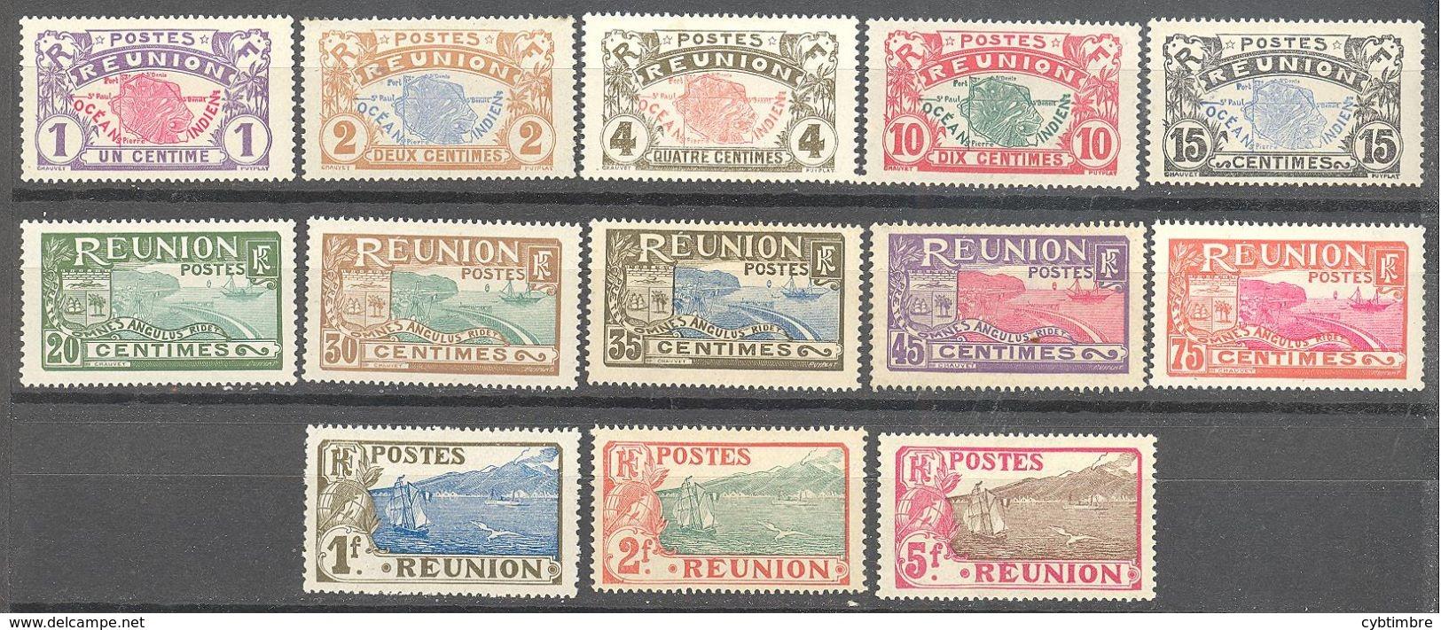 Reunion:  Yvert N° 56/71* Sauf 69-63-67; Cote 32.60€ - Neufs