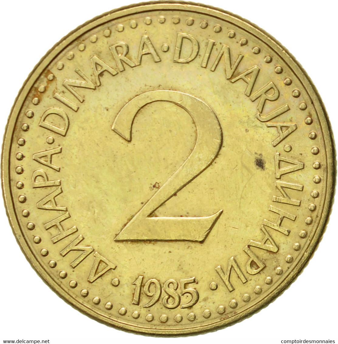 Yougoslavie, 2 Dinara, 1985, SUP, Nickel-brass, KM:87 - Joegoslavië