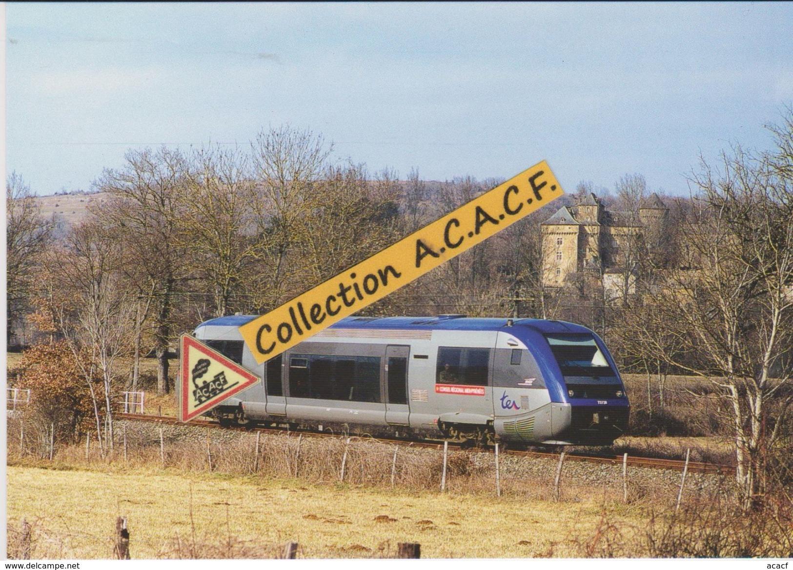 Autorail X 73738 (TER Rodez-Millau), à Montrozier (12) - - Autres Communes