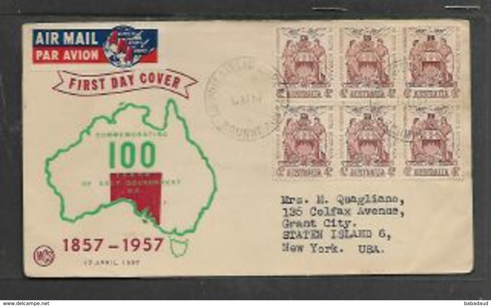 New Zealand,Self Government Centenary, 1957,  FDC - FDC