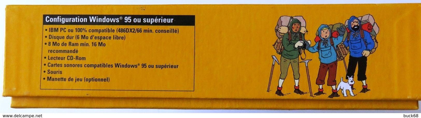 Boîtier TINTIN AU TIBET Jeu Pour PC Infogrames + Pub + Manuel - Cédérom - Disques & CD