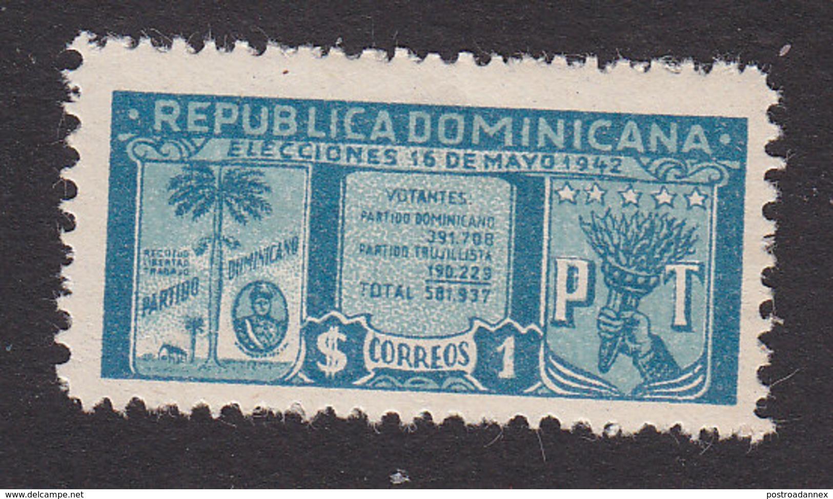 Dominican Republic, Scott #396, Mint Hinged, Re-election Of Trujillo, Issued 1943 - Dominicaine (République)