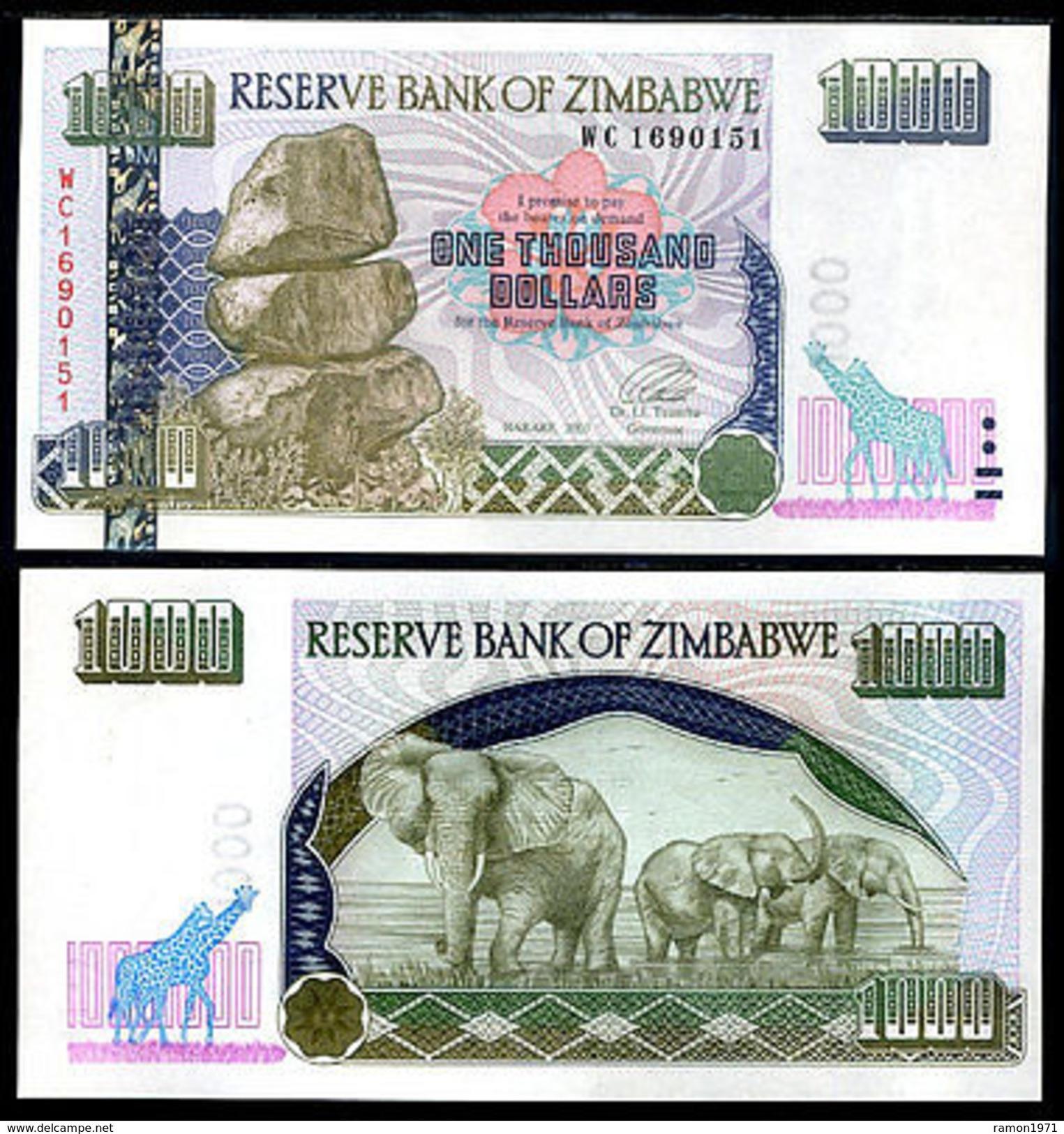 Zimbabwe 1000 Dollars 2003 UNC - Zimbabwe