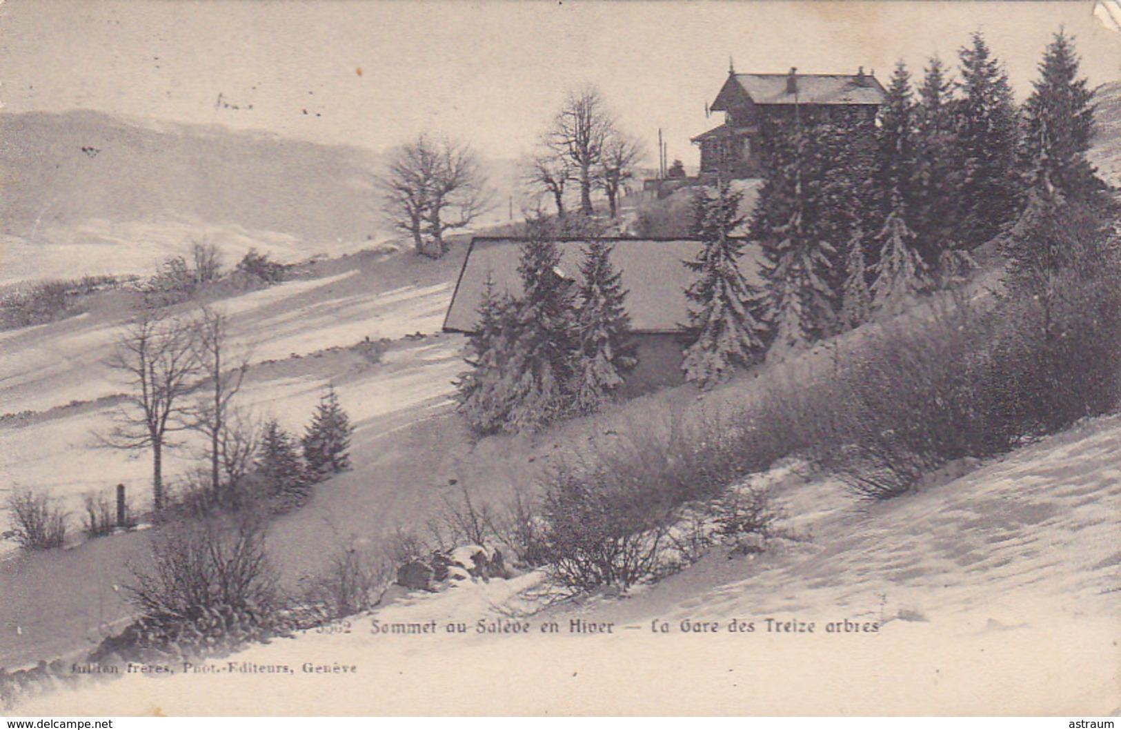 Cpa-74-sommet Du Saleve En Hiver-gare Des Treize Arbres-edi Jullien Freres N°5562 - Autres Communes