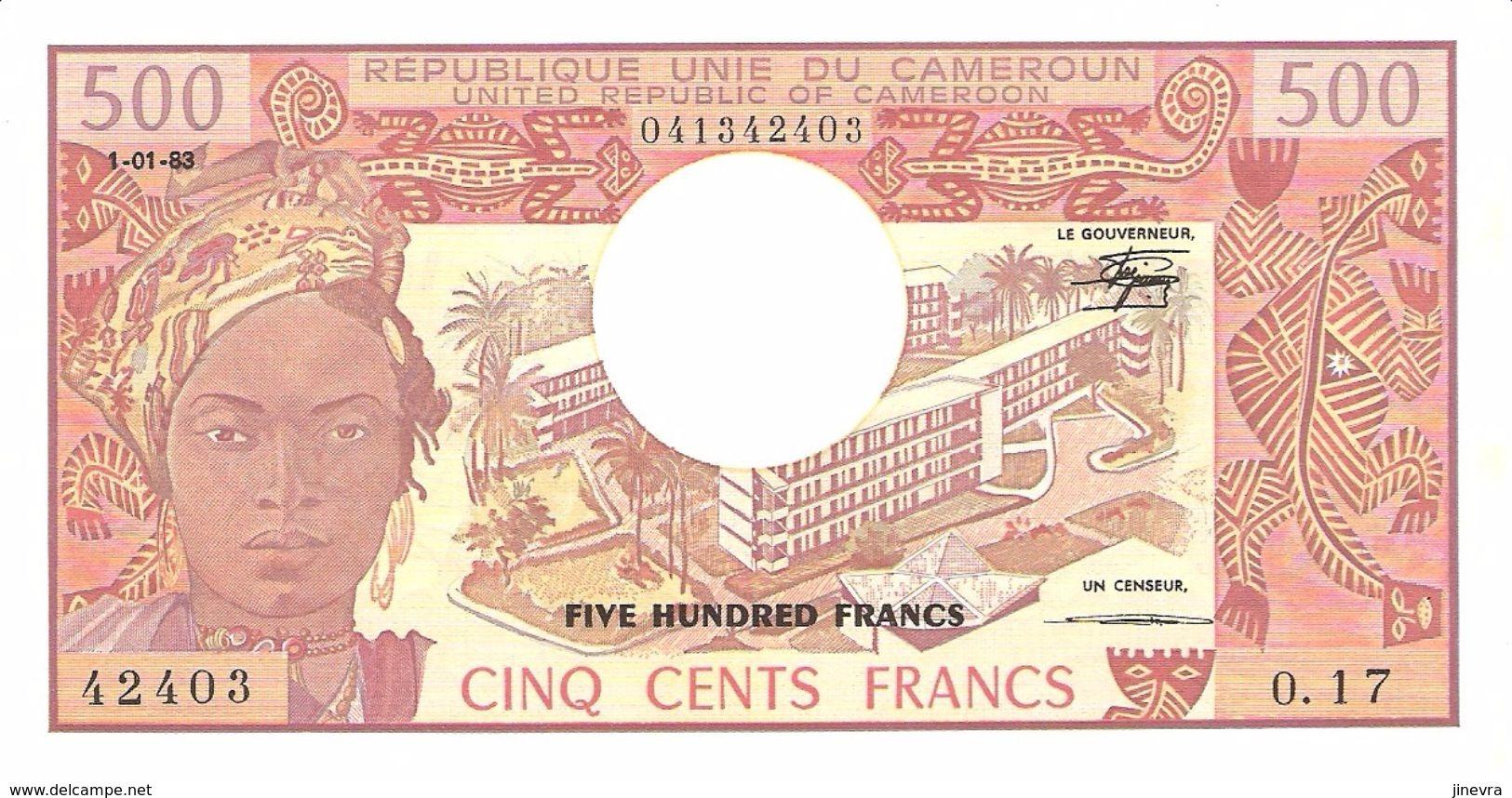 CAMEROUN 500 FRANCS 1983 PICK 15d UNC - Cameroun