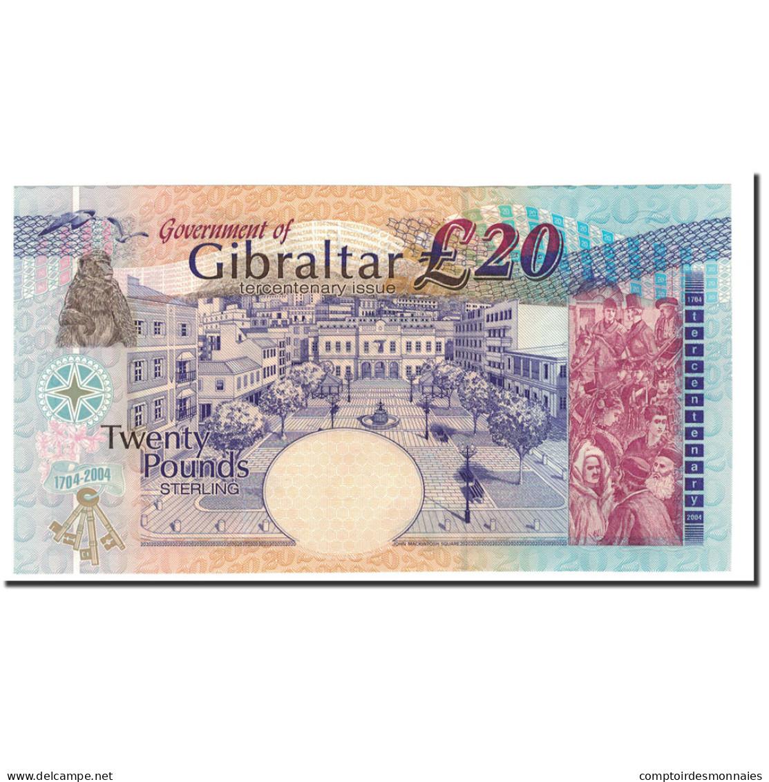 Gibraltar, 20 Pounds, 2004, KM:31a, 2004-08-04, NEUF - Gibraltar