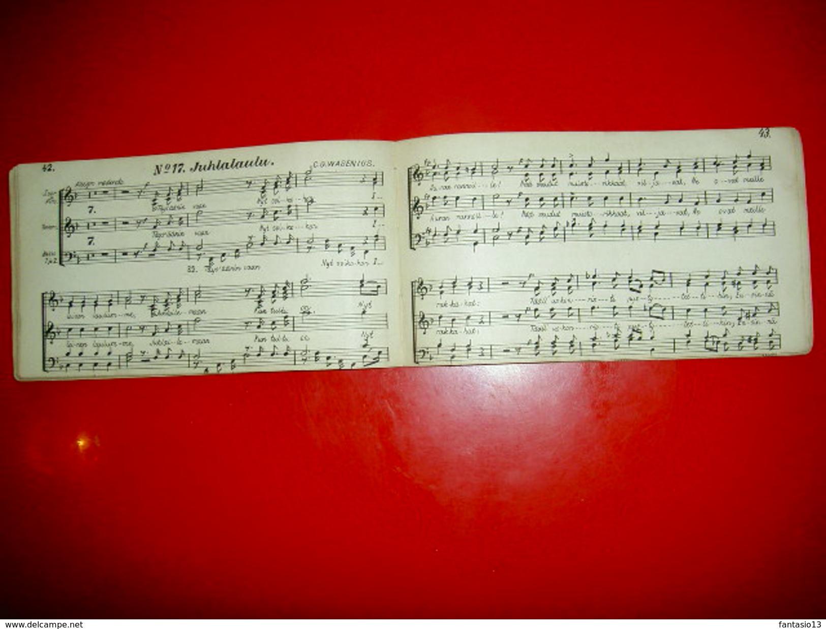 Partitions Chants Finnois Suédois Kesalla /Sommaren1892 Laulut Laulu Ja Soittojuhlassa Turussa /Sang Och Musikfest I Abo - Scandinavian Languages