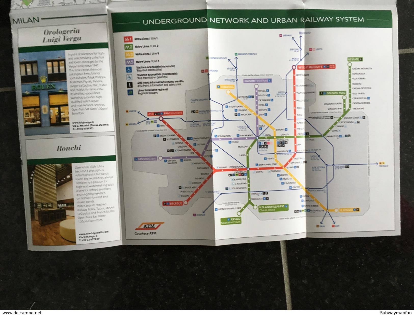 City & Transit Map Milan - Subway Bus Tram - World