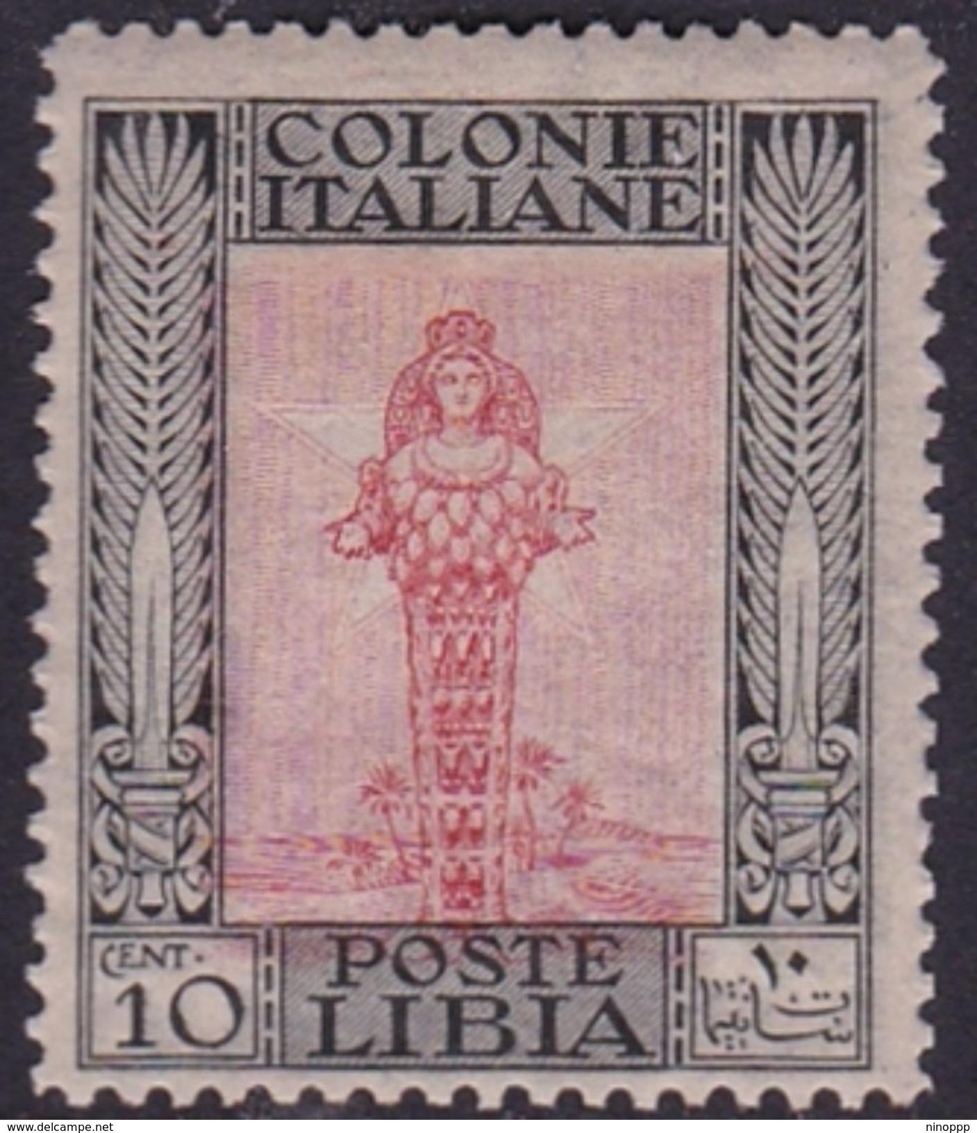 Italy-Colonies And Territories-Libya S 24 1921 ,Pictorials, 1c Diana Of Ephesus,Mint Hinged - Libya