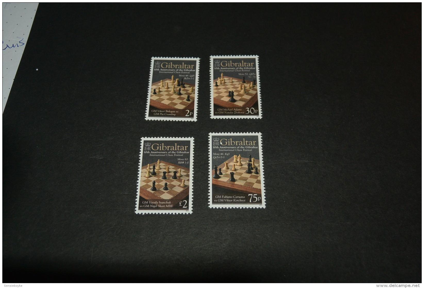 K11133 - Set  MNh Gibraltar -  2012- Int. Chess Festival - Schaken