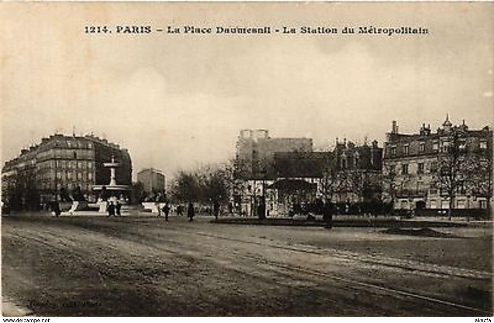 CPA PARIS 12e-Place Daumesnil-La Station Du Métropolitain (322843) - France