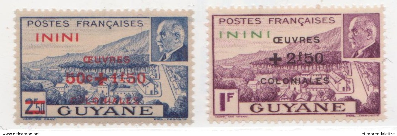 Inini N°51 Et 52 Plus  57 à 58** - Inini (1932-1947)
