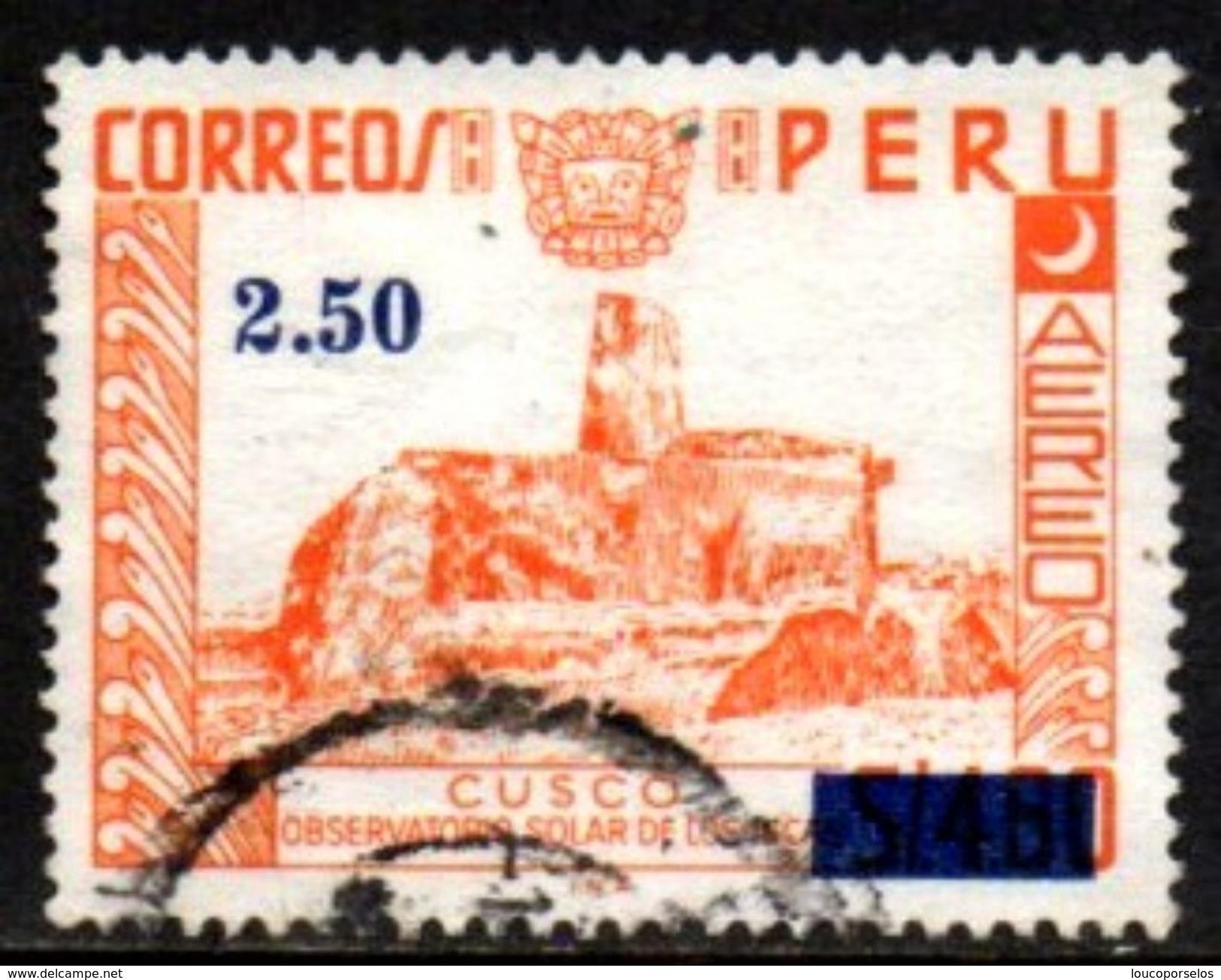 06361 Peru Aéreo 403 Observatorio Solar Inca U - Peru