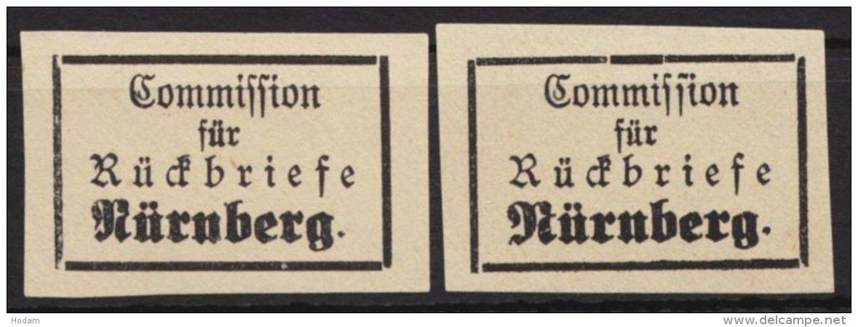 "Retourmarke:Nürnberg: ""Rückbriefe"", 2 Verschiedene Typen, (*) - Bayern"