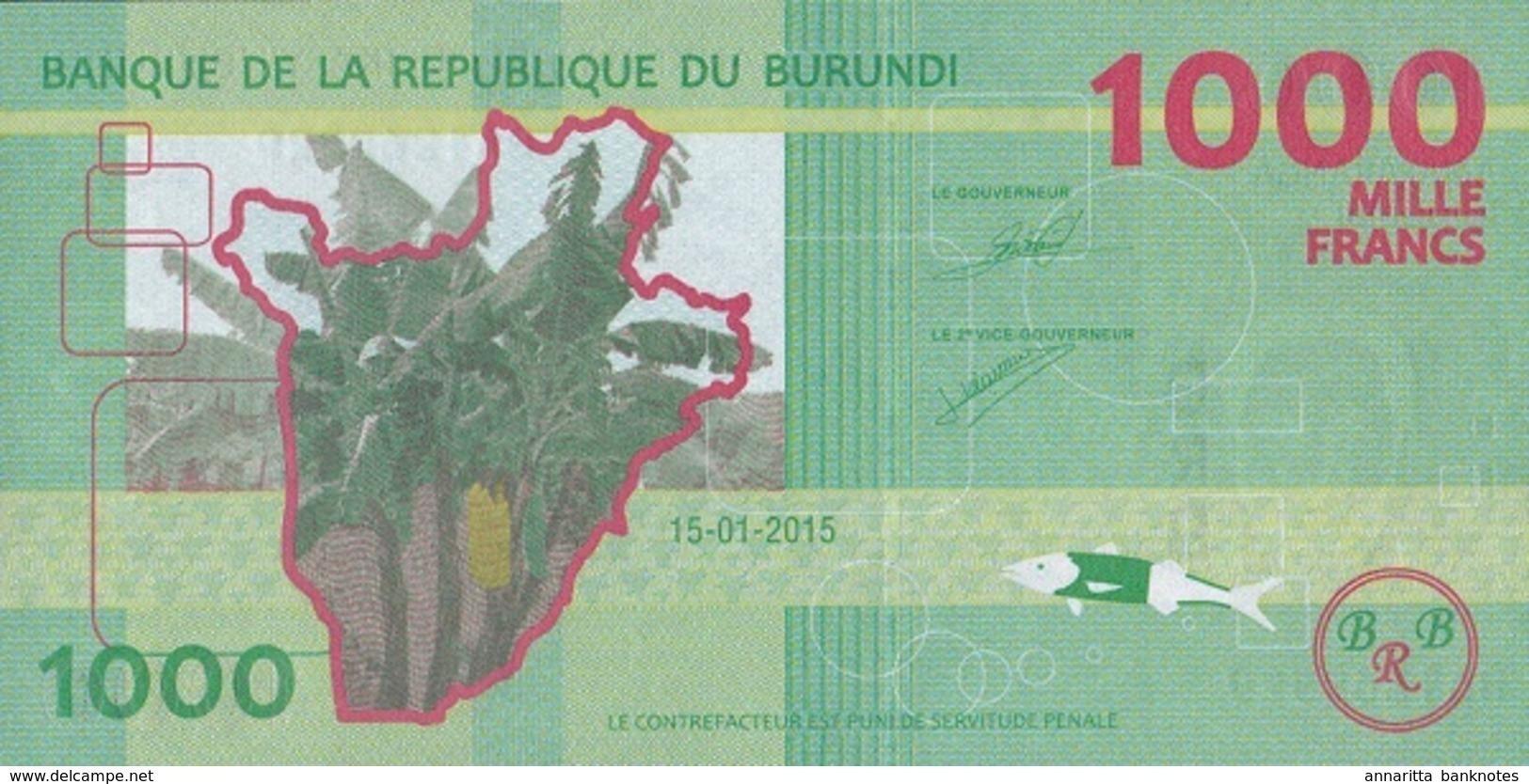 BURUNDI 1000 FRANCS 2015 P-51a UNC [BI237a] - Burundi