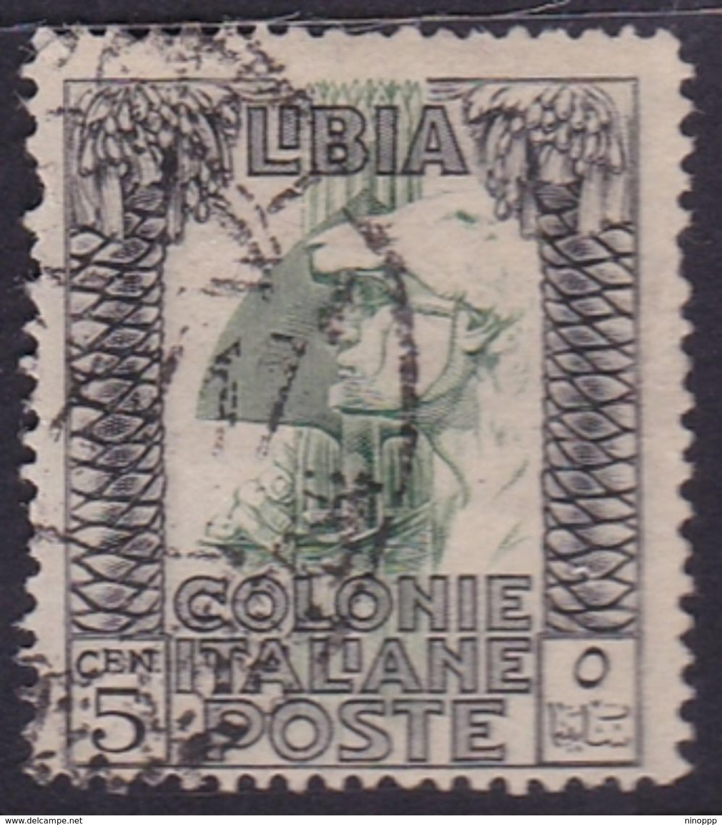 Italy-Colonies And Territories-Libya S 46 1924-29 ,Pictorials,5c Roman Legionary,used - Libya