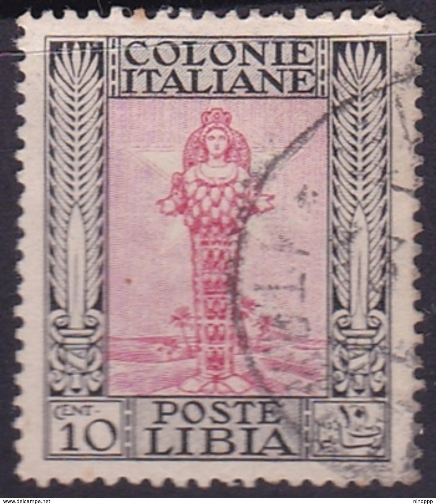 Italy-Colonies And Territories-Libya S 47 1924-29 ,Pictorials No Watermark,10c Diana Of Ephesus,used - Libya