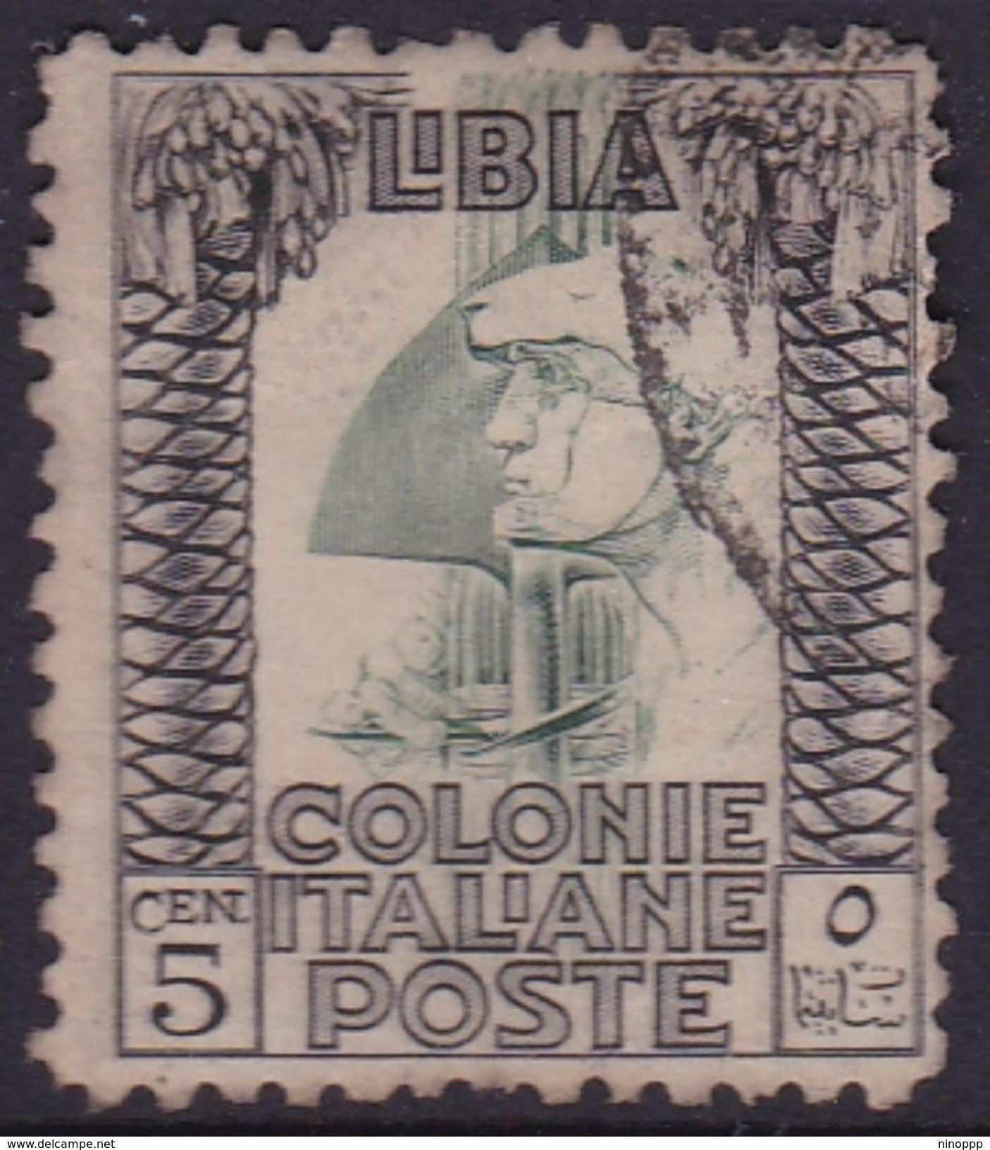 Italy-Colonies And Territories-Libya S 60 1926-30 ,roman Legionary,perf 11,5c ,used - Libya