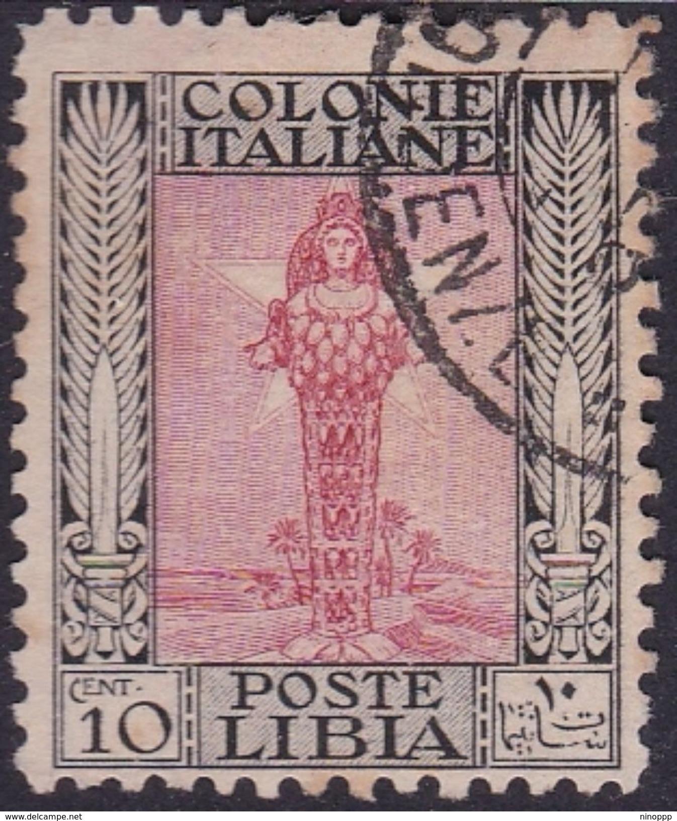Italy-Colonies And Territories-Libya S 61 1926-30 ,Diana Of Ephesus,perf 11,10c,used - Libya