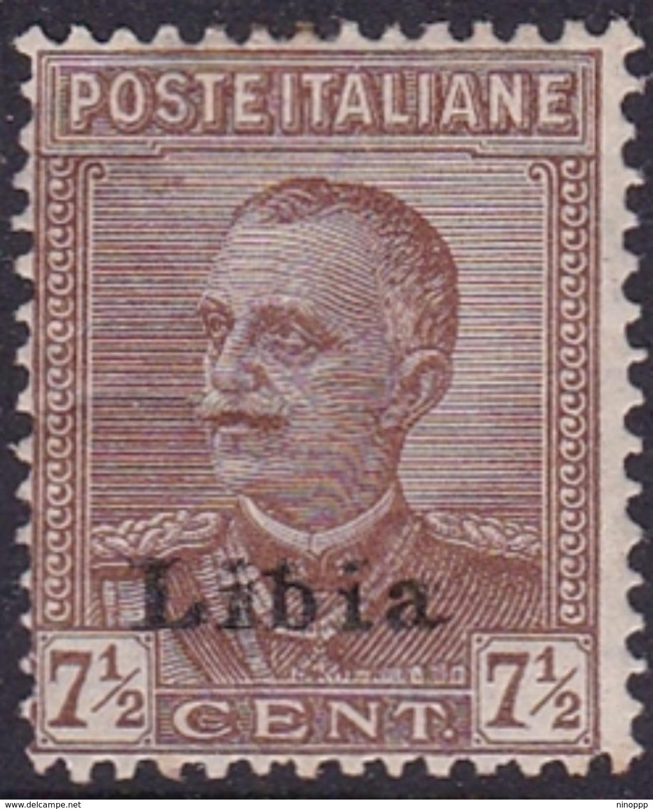 Italy-Colonies And Territories-Libya S 78 1929 King  V. Emanuele III,7.5 C Brown,Mint Hinged - Libya