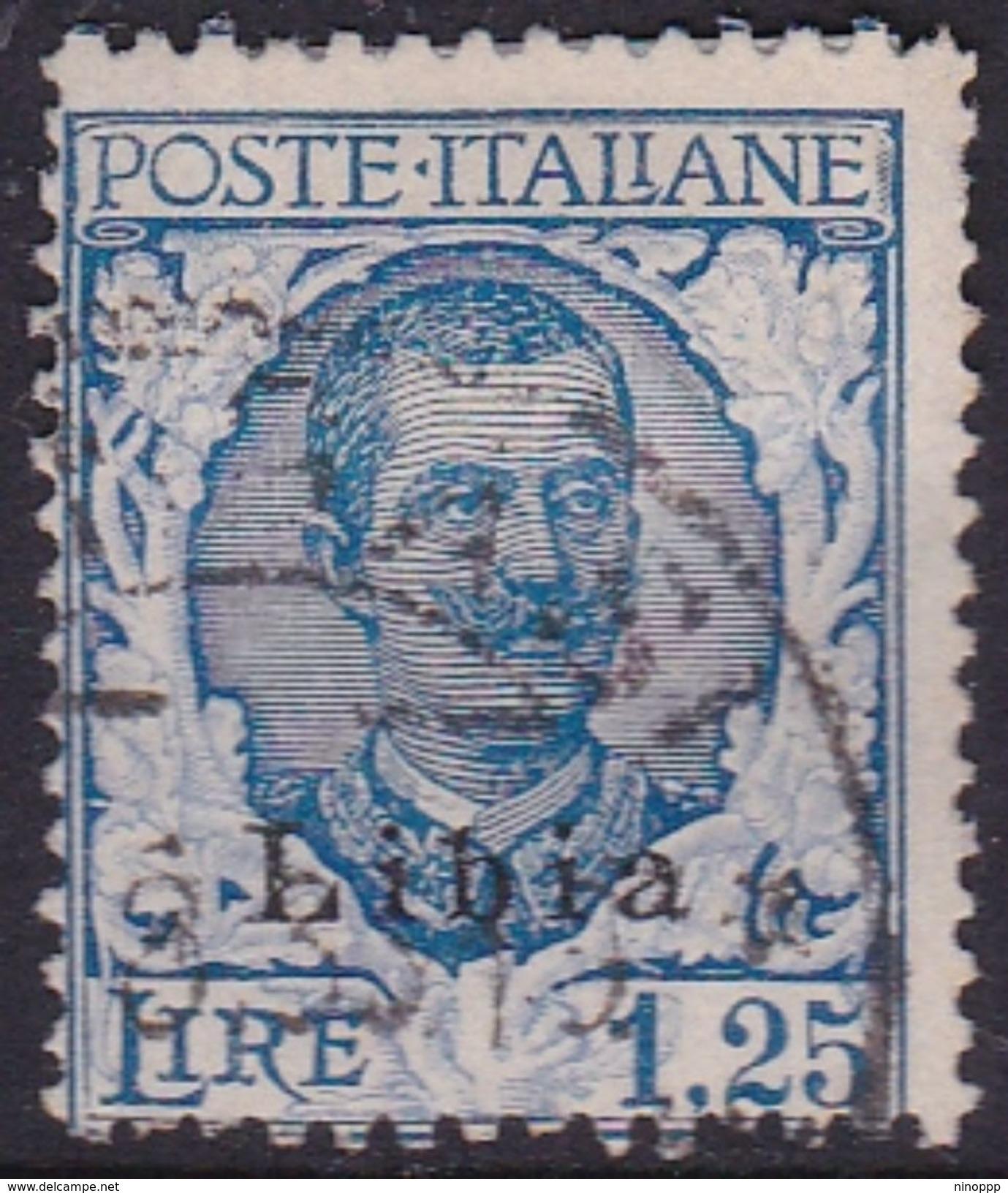 Italy-Colonies And Territories-Libya S 79 1929 King  V. Emanuele III, 1,25 Lira Blue,used - Libya