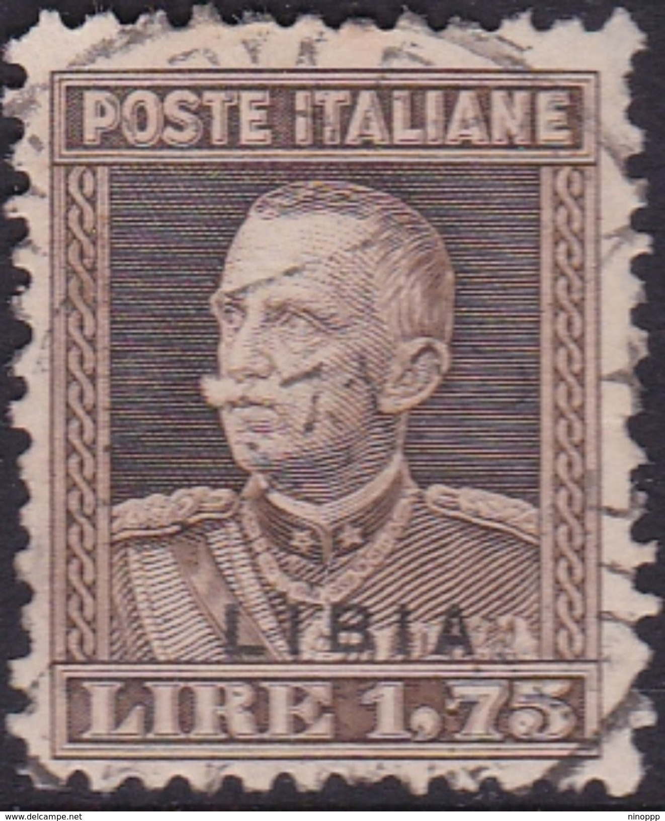 Italy-Colonies And Territories-Libya S 80 1929 King  V. Emanuele III,1,75 Lira Brown,used - Libya