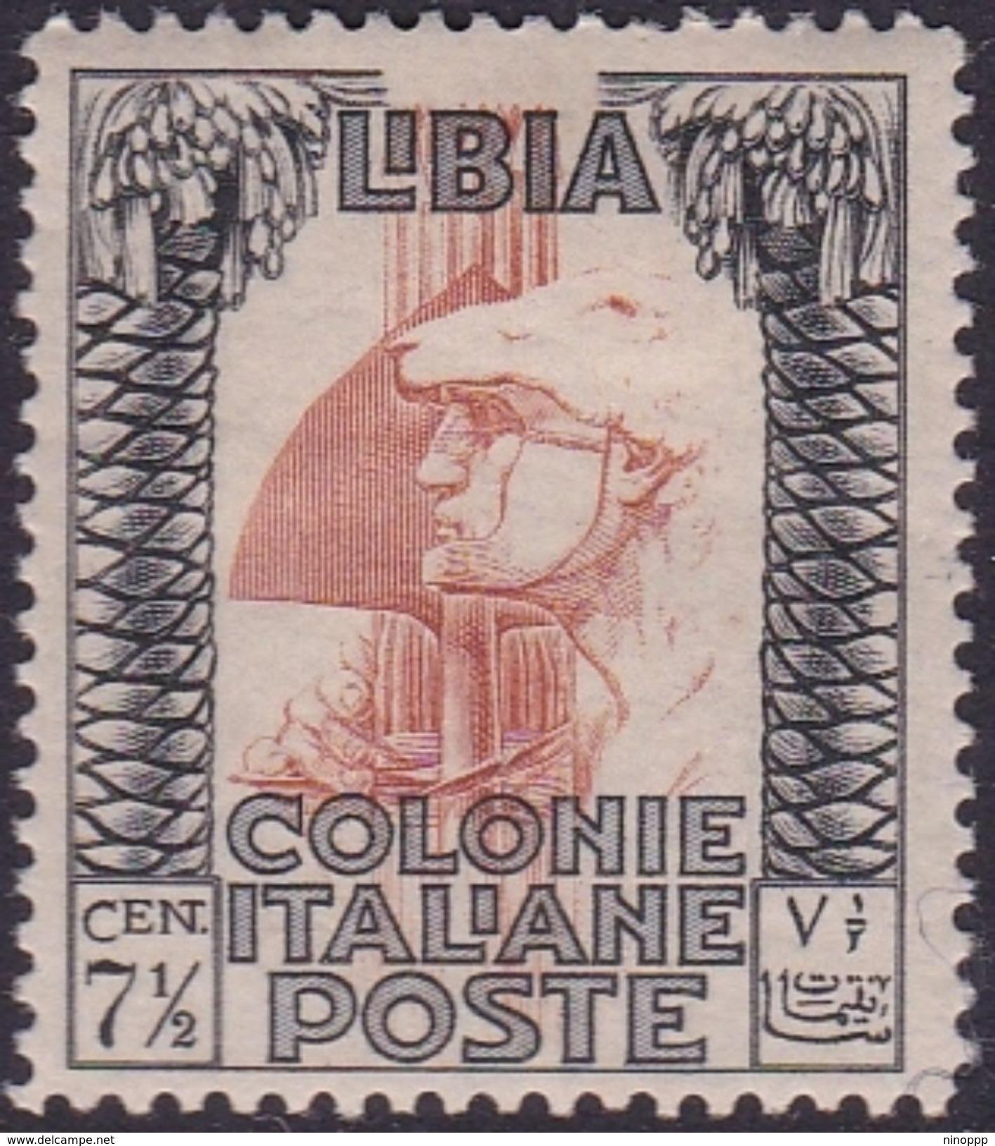 Italy-Colonies And Territories-Libya S 103 1931 Roman Legionary 7,5 C Perf 14,Mint Hinged - Libya