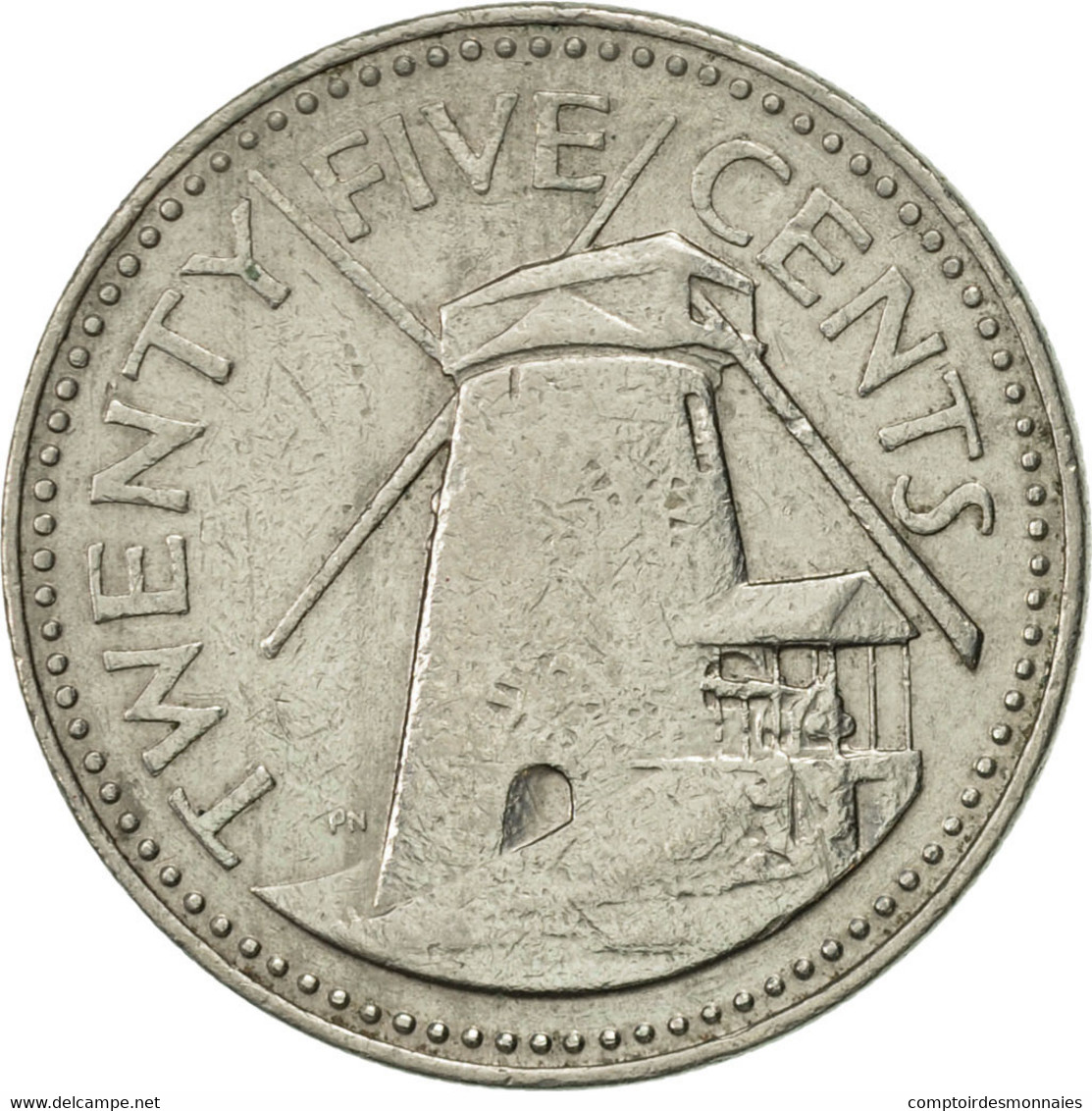 Barbados, 25 Cents, 1980, Franklin Mint, TTB+, Copper-nickel, KM:13 - Barbades
