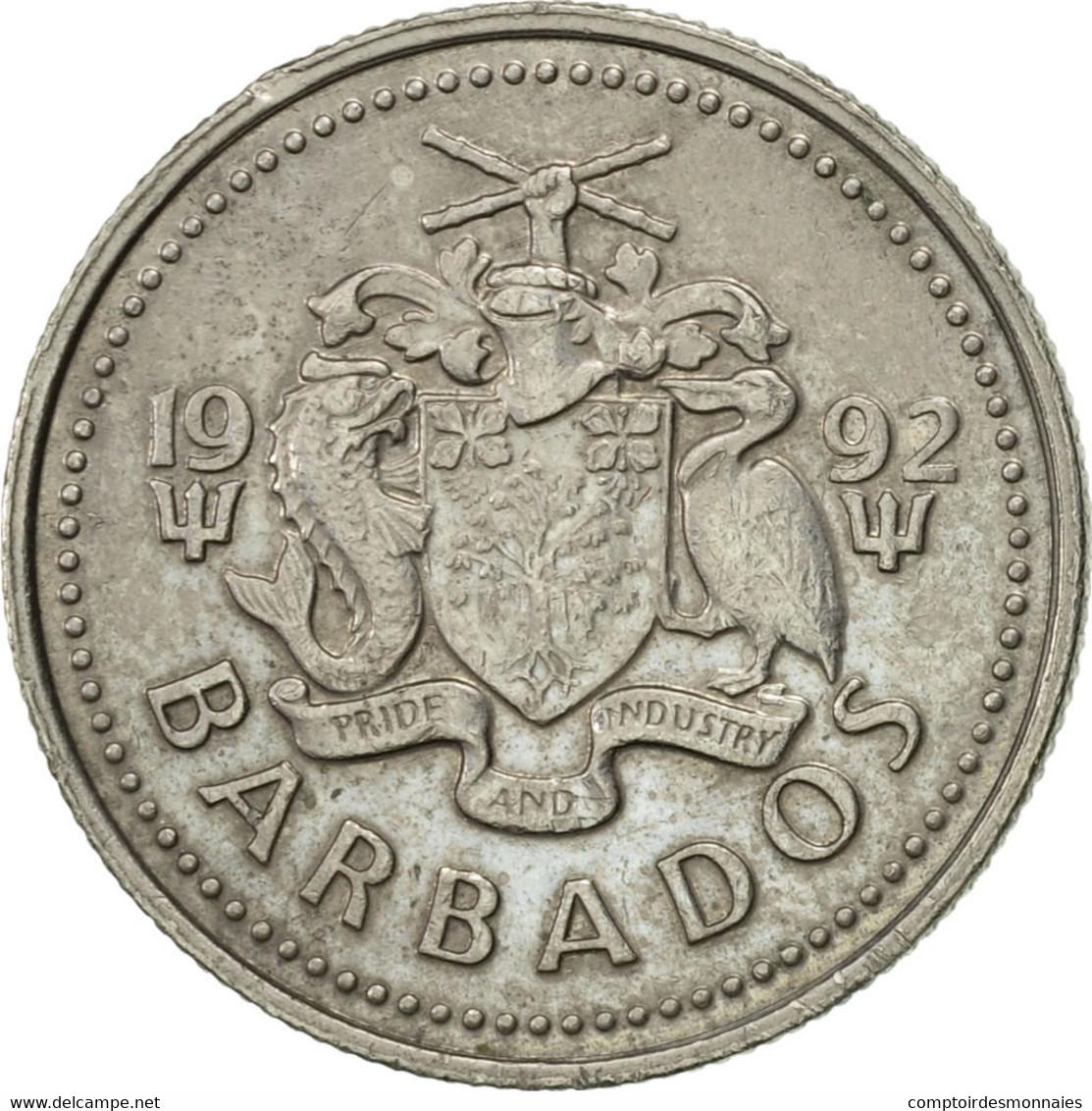 Barbados, 10 Cents, 1992, Franklin Mint, TTB+, Copper-nickel, KM:12 - Barbades