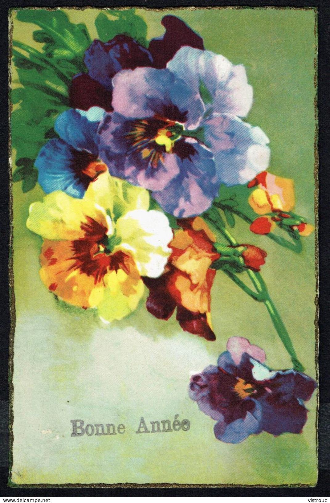 BONNE ANNEE - GELUKKIG NIEUWJAAR -  Fleurs, Pensées  - Circulé - Circulated - Gelaufen - 1934. - Nouvel An