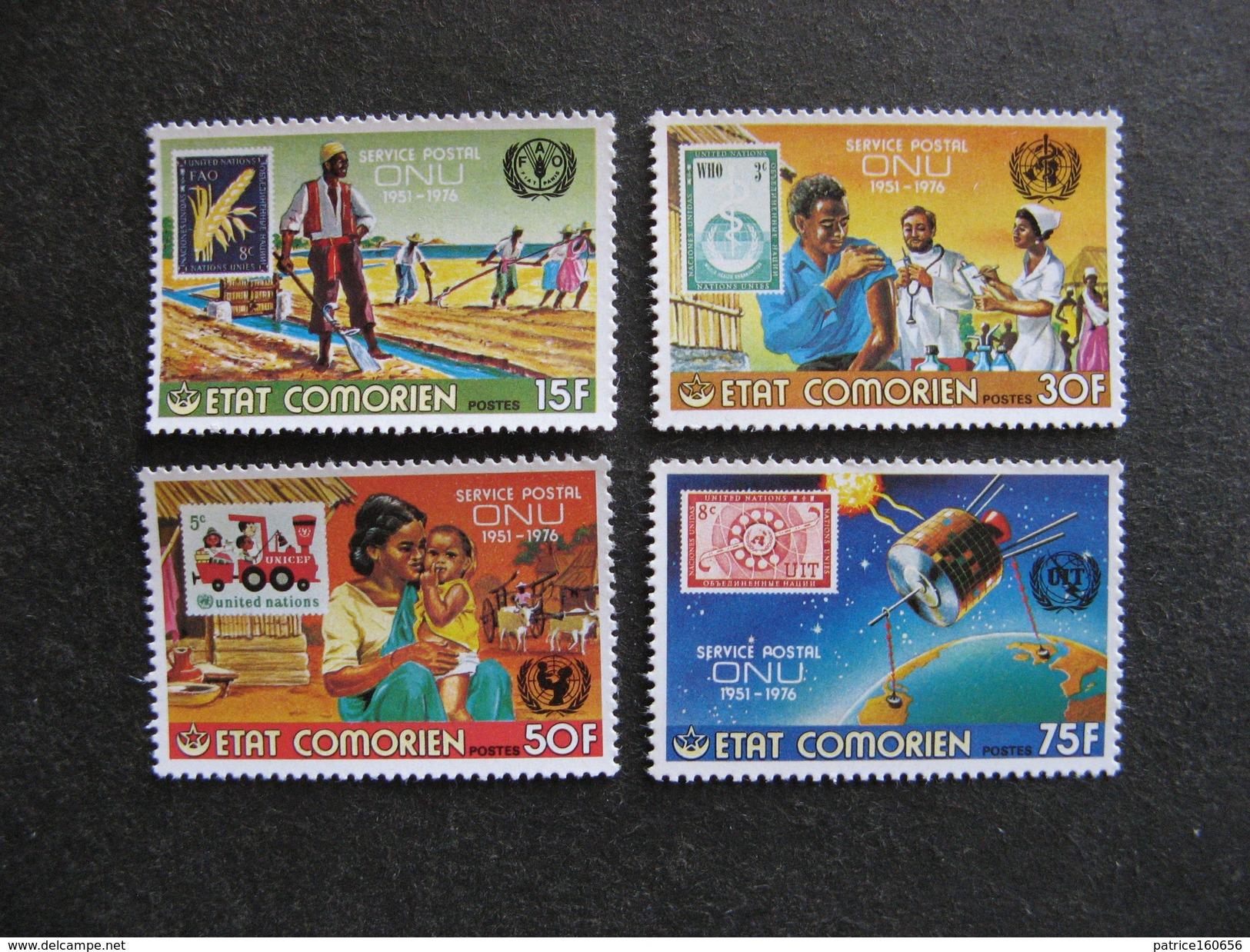 Comores: TB Série N° 158 Au N° 161, Neufs XX. - Comores (1975-...)