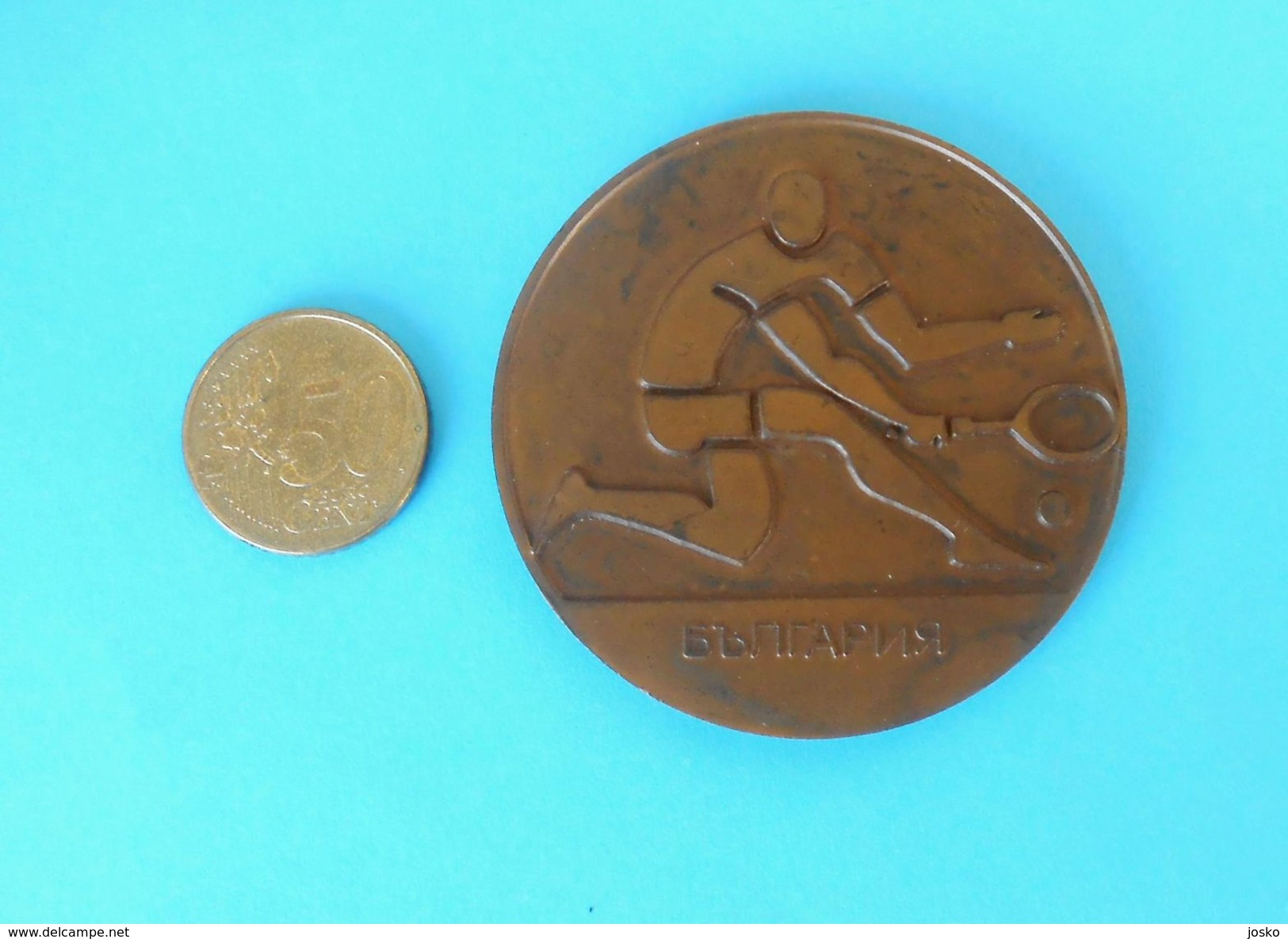 BALKAN TENNIS CHAMPIONSHIPS - 1981. PLOVDIV ... Old Rare Large Massive Official Participant Medal * Tenis Sport - Apparel, Souvenirs & Other