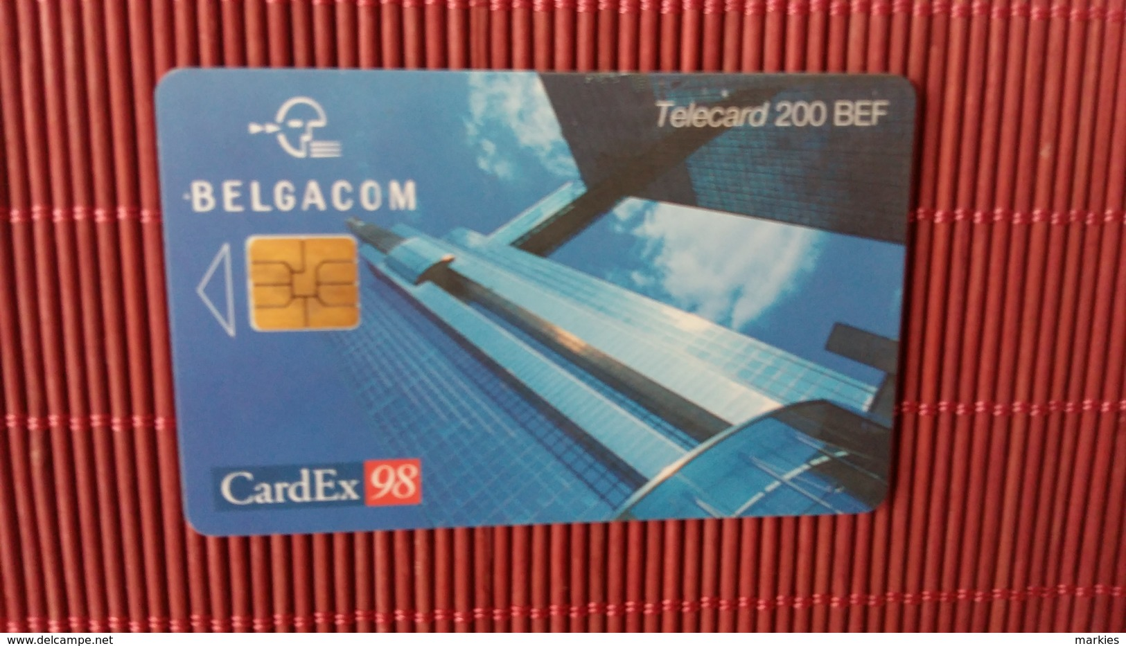 Cardex 98 Phonecard Brussels  Used - Télécartes