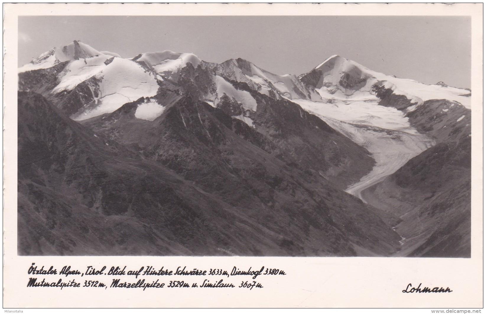 Blick Auf Hintere Schwärze, Diemkogl, Mutmalspitze, Marzellspitze U. Similaun - Ötztaler Alpen, Tirol (55/8) - Sölden