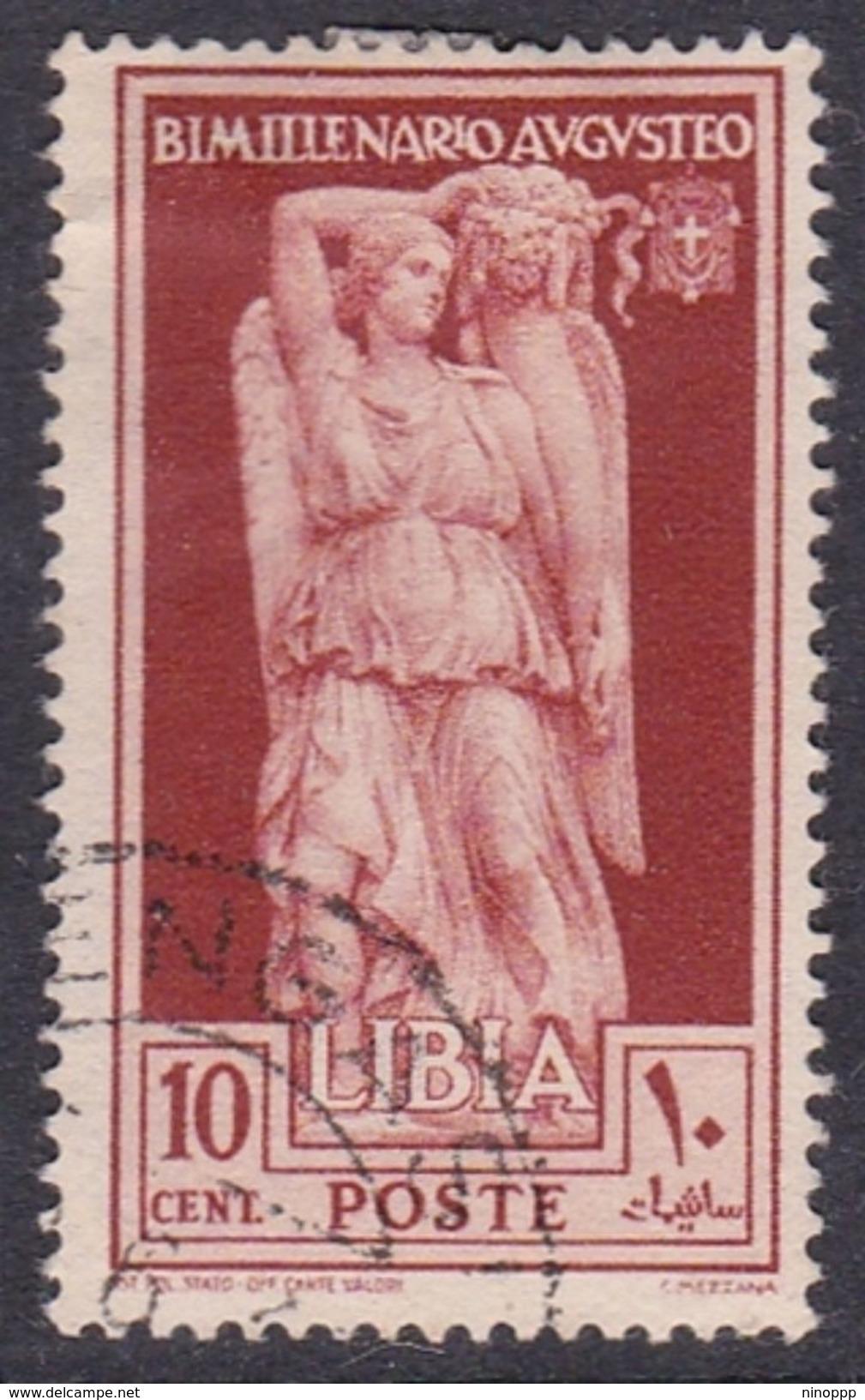 Italy-Colonies And Territories-Libya S 153 1938 Augustus Birth Bimillenary,10c Red Brown,used - Libya