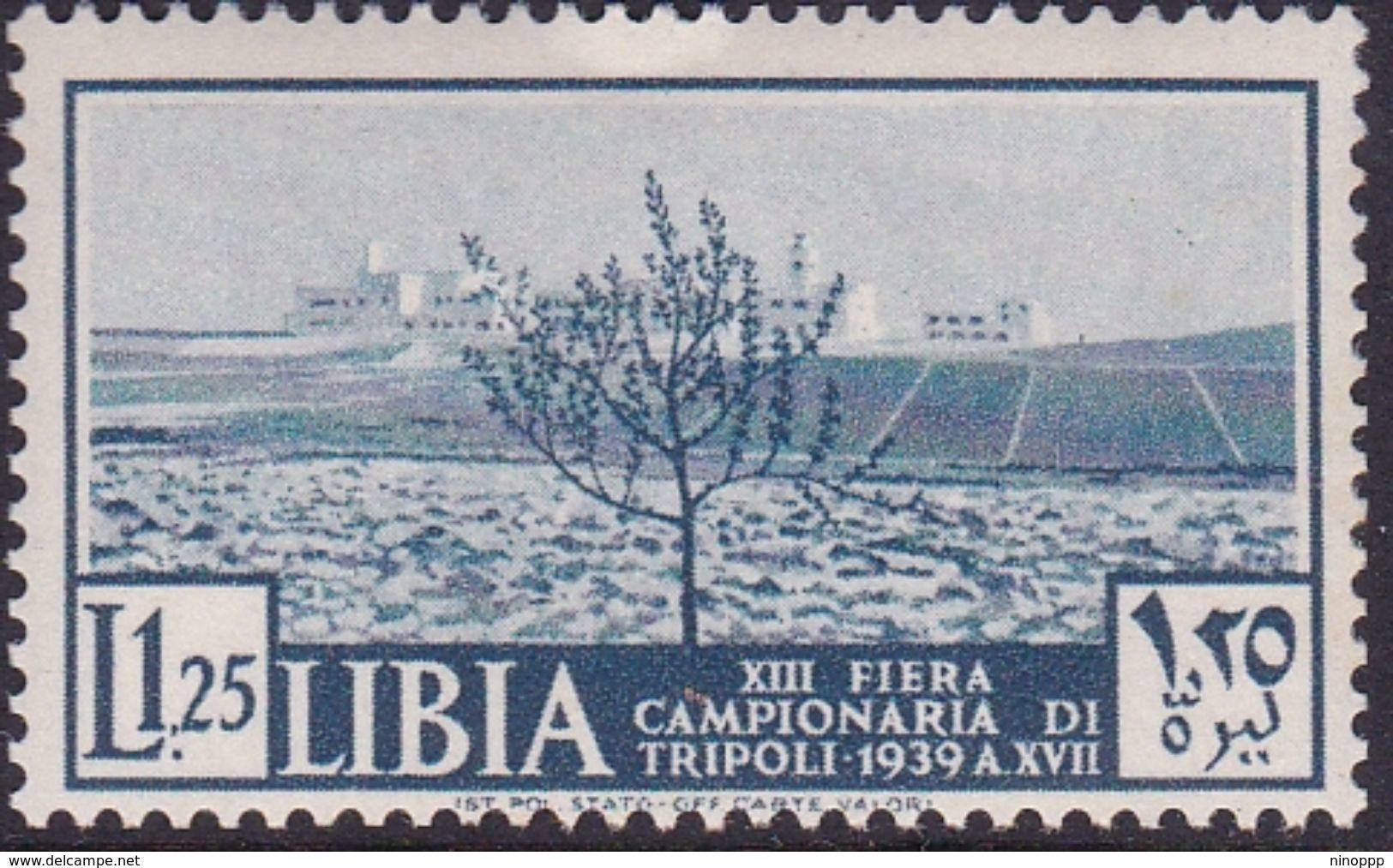 Italy-Colonies And Territories-Libya S 162 1938 13th Tripoli Fair,1,25 Lira Blue,mint Hinged - Libya