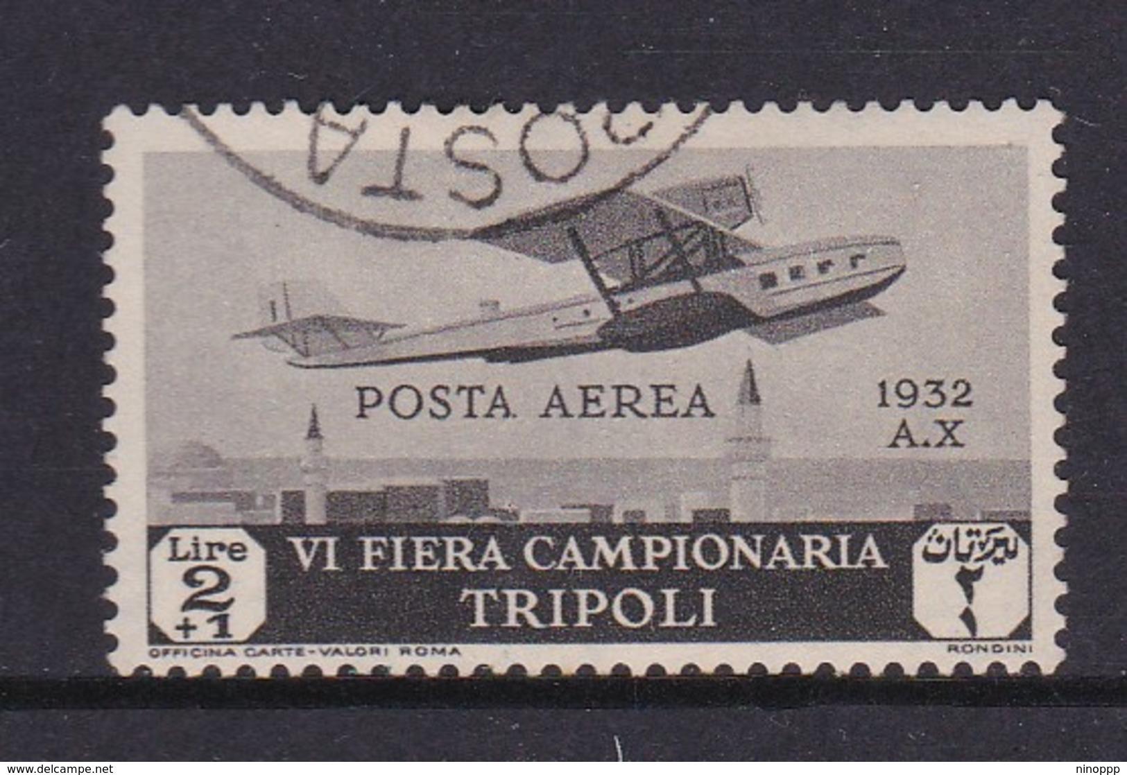 Italy-Colonies And Territories-Libya S AP6 1932 Sixth Sample Fair Tripoli,2 Lire Gray,used - Libya