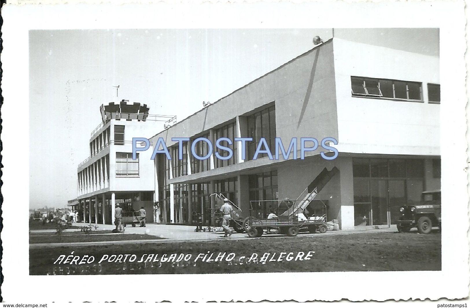 77130 BRAZIL BRASIL PORTO ALEGRE RIO GRANDE DO SUL AIRPORT SALGADO AVIATION PHOTO NO POSTAL TYPE POSTCARD - Fotografie