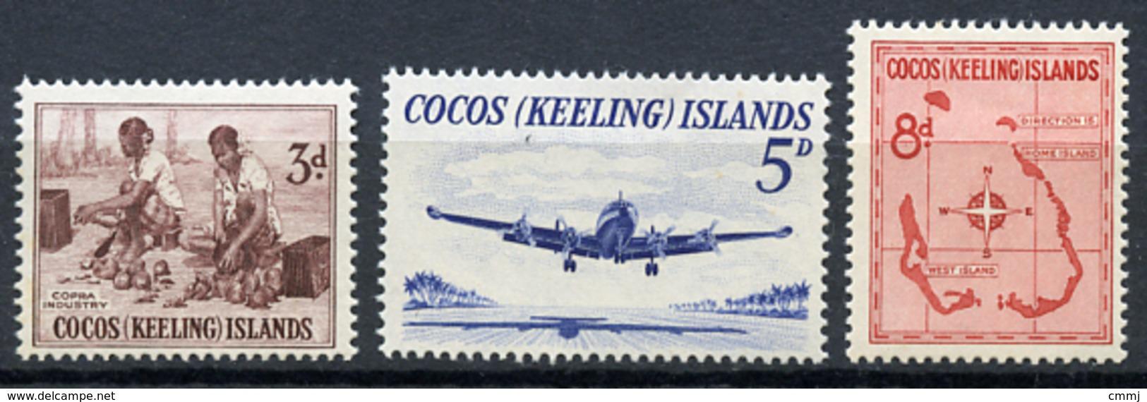 1963 - COCOS ISLAND - Catg. Mi. 1/3 - NH - (R-SI.331.713 -  24) - Isole Cocos (Keeling)