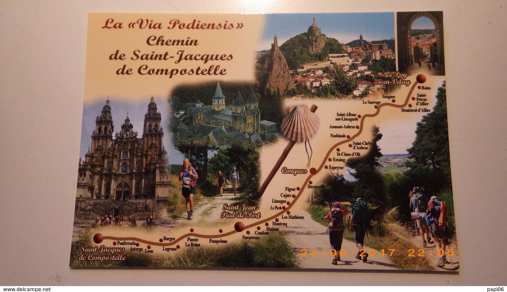 Sur Le Chemin De Saint Jacques De Compostelle.Via Podiensis.Le Puy ,Saugues,Estaing,Conques,St Jean Pied De Port, Burgos - Christianisme
