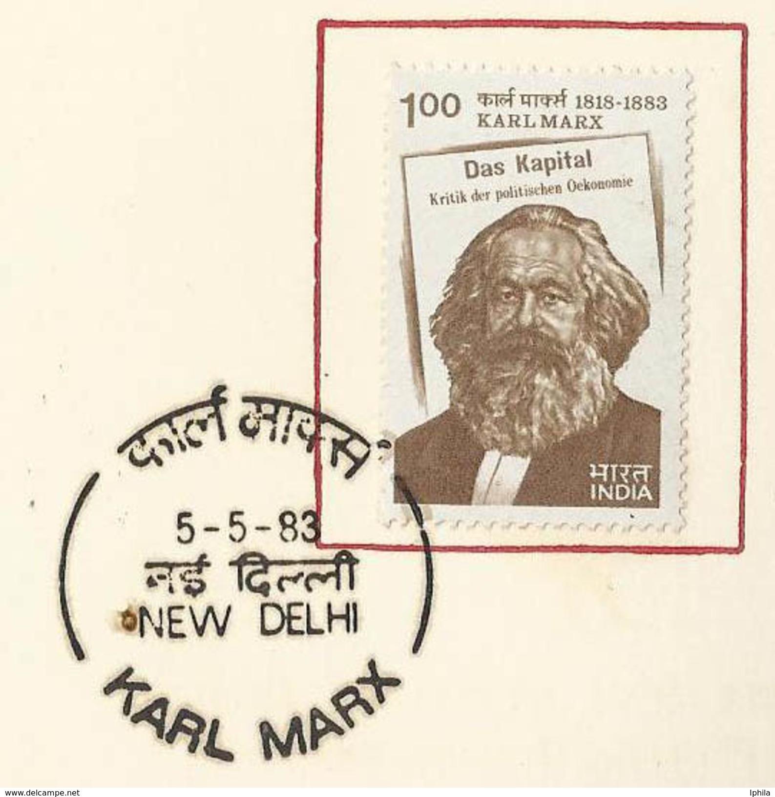Rare Indian VIP Folder    Karl Marx Thinker Philosopher Communist Communism Communes Workers USSR Russian Revolution - Karl Marx