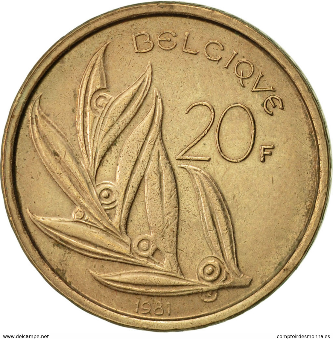 Belgique, 20 Francs, 20 Frank, 1981, TTB+, Nickel-Bronze, KM:159 - 1951-1993: Baudouin I