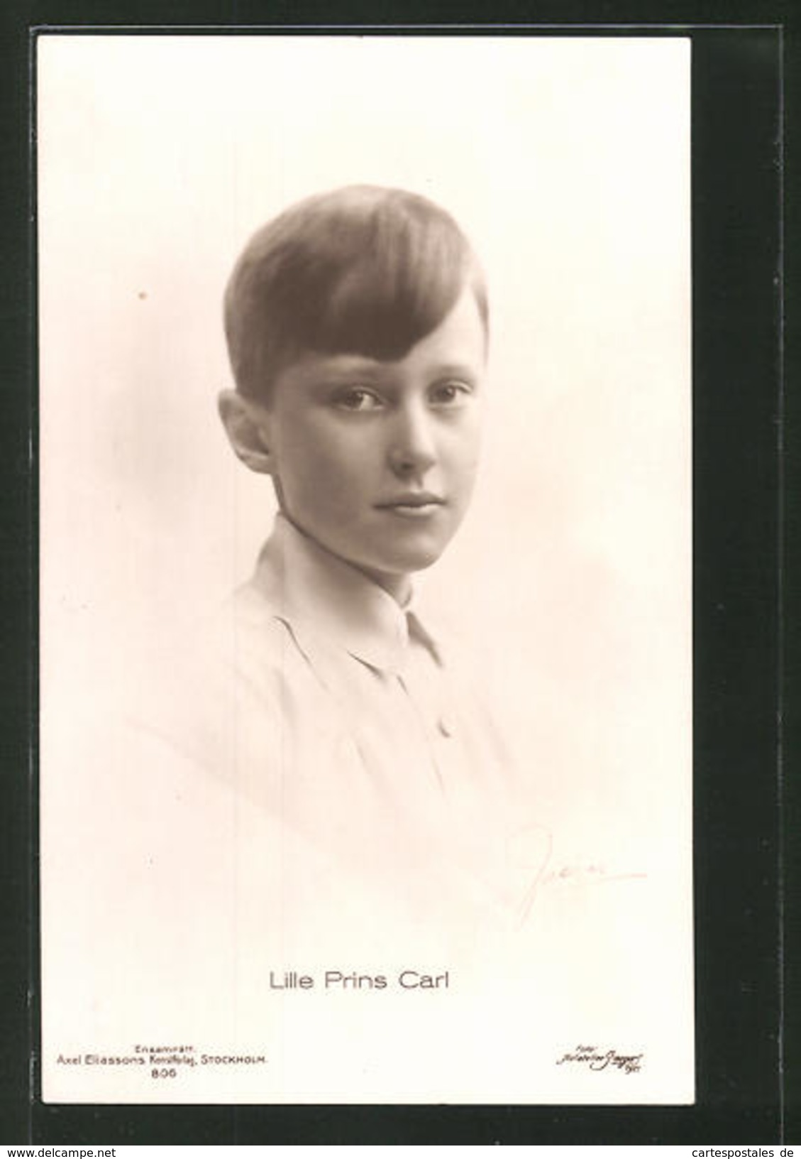 AK Der Junge Prinz Carl Von Schweden - Royal Families