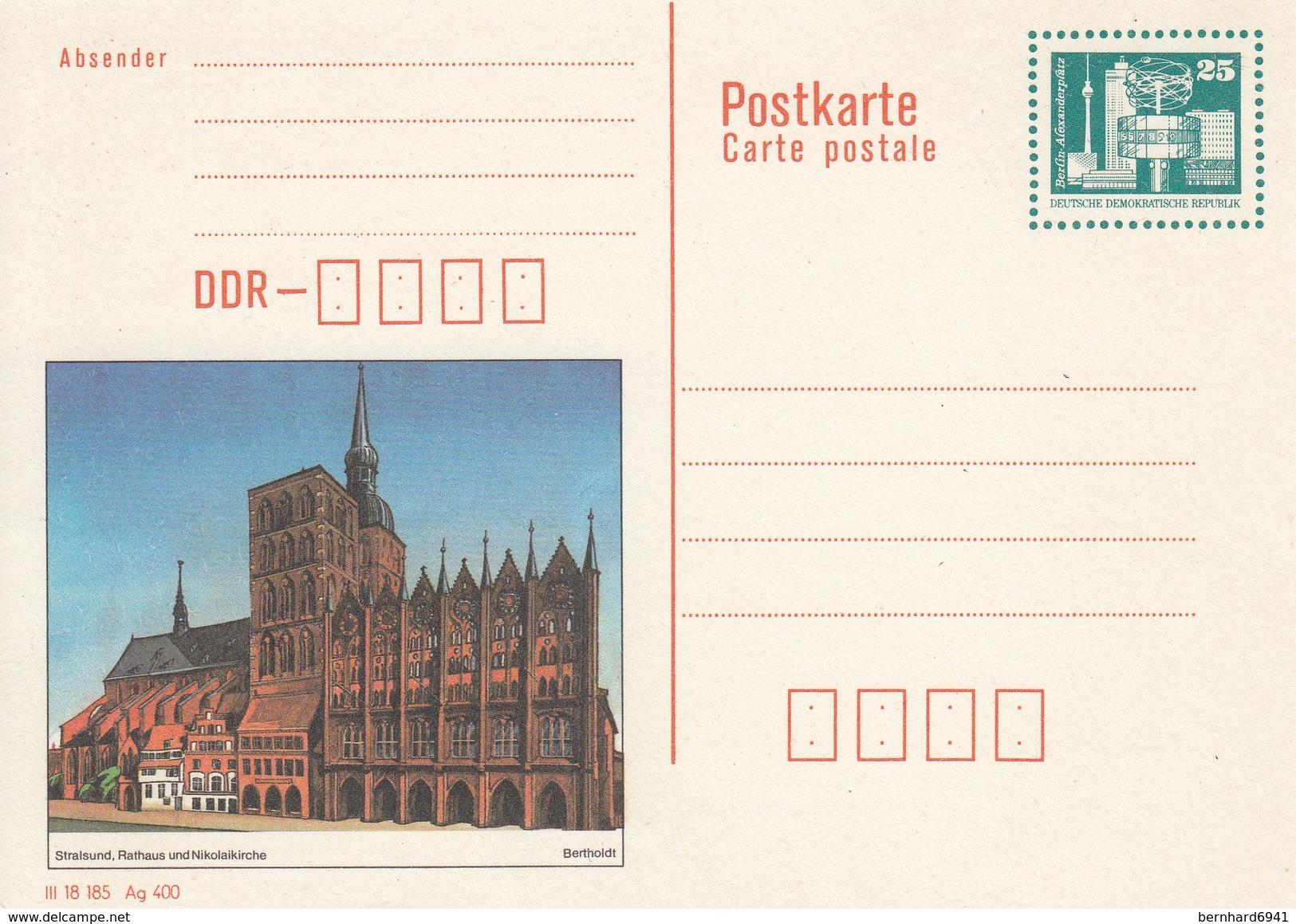 DP 92 ** Bauwerke Berlin Alexander Platz - Stralsund,Rathaus Und Nikolaikirche - Private Covers - Mint