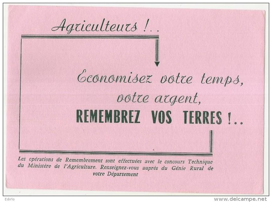 ---- BUVARD ---- AGRICULTEURS Remembrez Vos Terres -économisez Votre Temps   - Excellent état - Agriculture