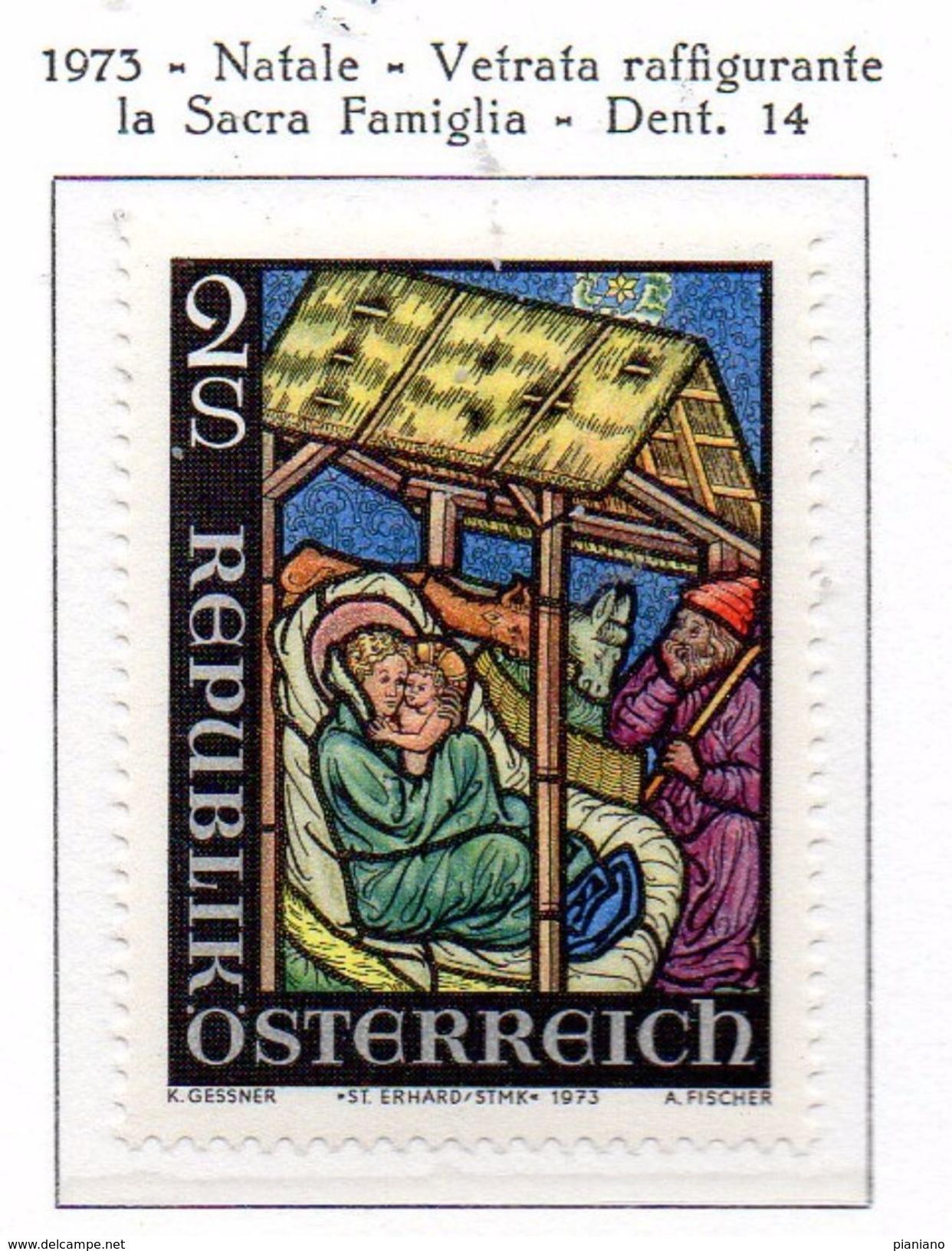 PIA - AUSTRIA - 1973  : Natale -   (Yv 1264) - Vetri & Vetrate