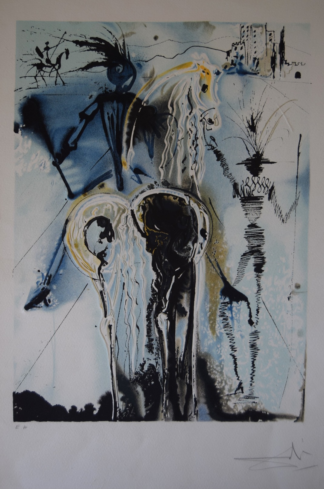 Salvador Dali - - Les Chevaux Daliniens 1970-1972- 16 Lithographies Signée Et Justifiées E.A - Lithographies